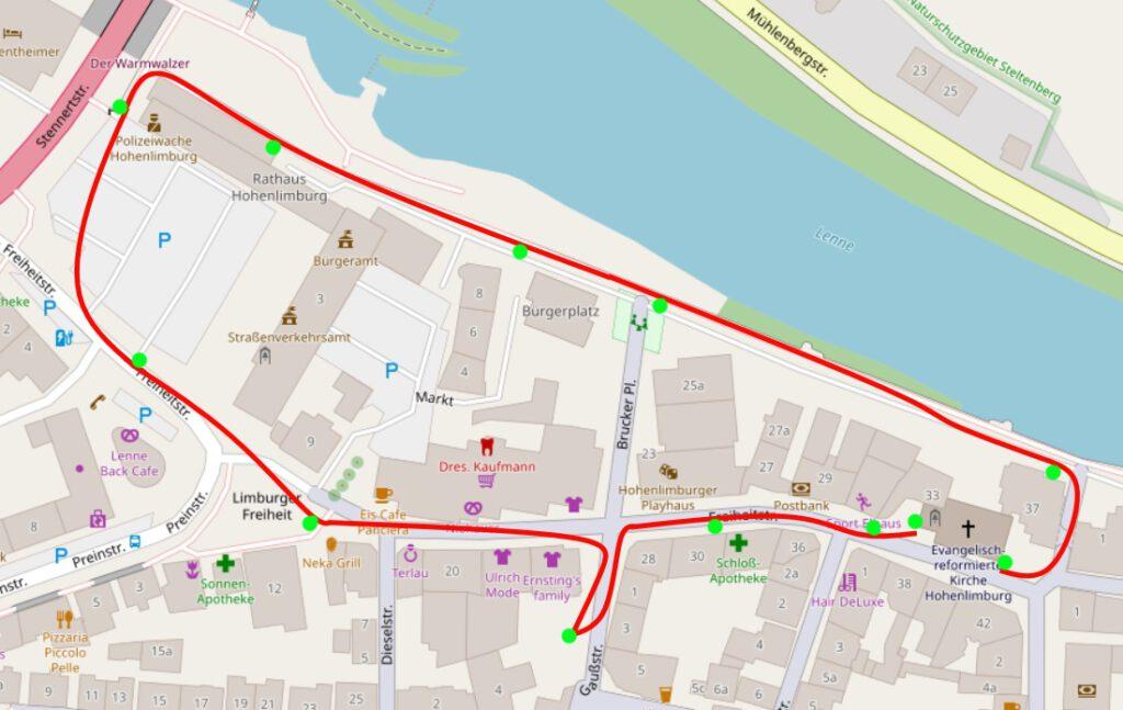 Karte der Hohenlimburg Innenstadt